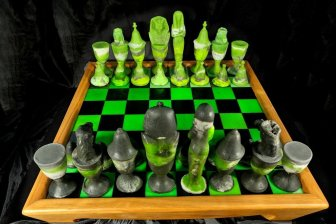 glass chess set, high end chessboard, luxury chessboard,
