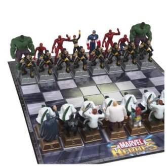 Marvel Heroes Chess Set, marvel heroes chessboard,