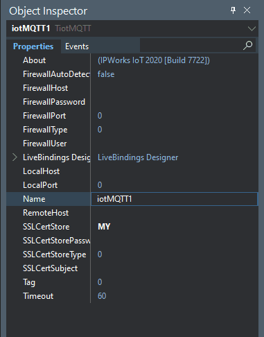 Why You Should Use IPWorks MQTT Lib To Communicate with IoT = using the object inspector