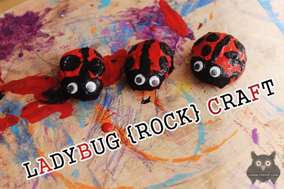 Ladybug Rock Craft