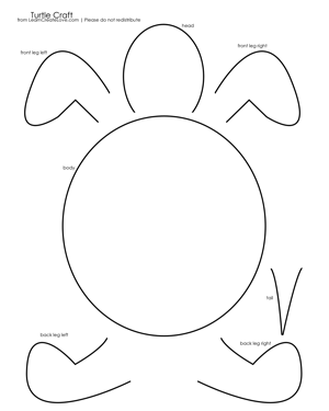 Turtle Craft with Printable