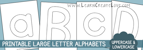 Letter Template Size Large Printable Fun Alphabet