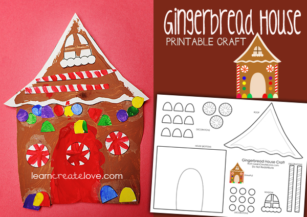 Printable Gingerbread House Craft