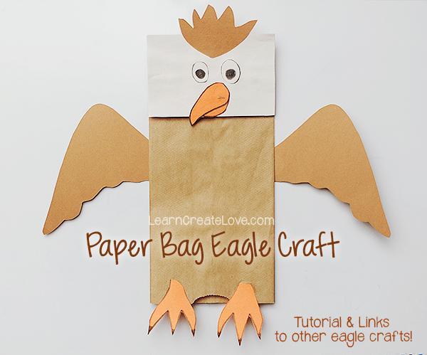 Bag Bald Craft Paper Eagle