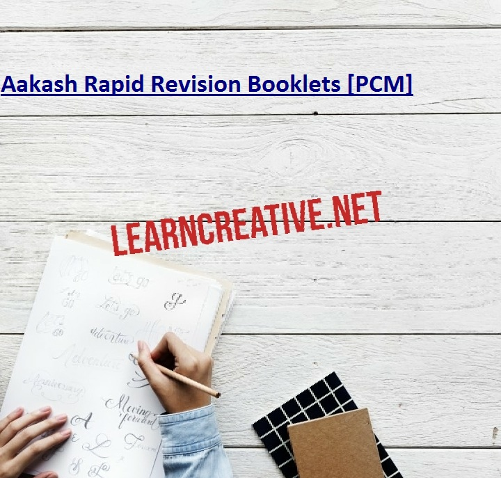 Aakash Rapid Revision Booklets [PCM]