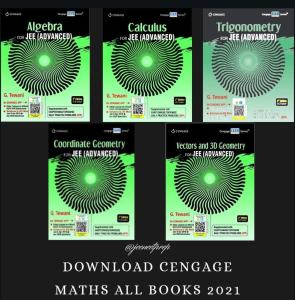 Cengage for Maths 2021 All Books PDF free Download