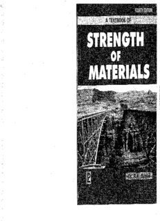 [PDF 2020] Textbook of STRENGTH OF MATERIALS By Dr.R.K. Bansal Book (Free Download)