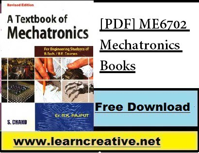 [PDF] ME6702 Mechatronics Books