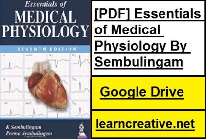 [PDF] Essentials of Medical Physiology By Sembulingam