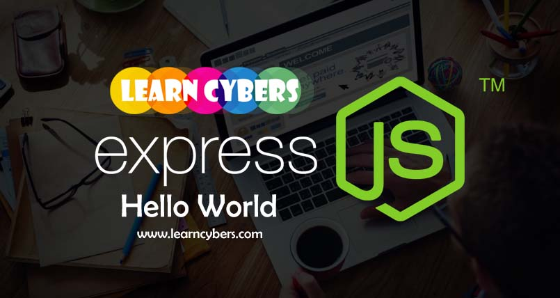 express js hello world