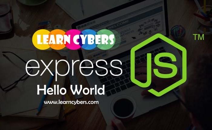 express js hello world