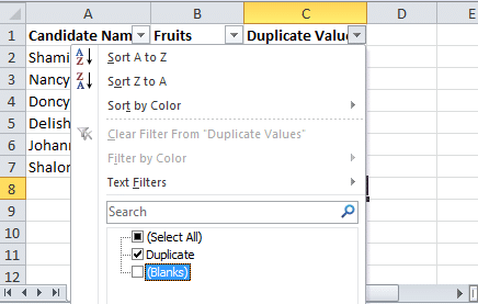 How-to-find-duplicates-in-excel-using-filter
