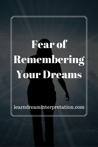 Fear of Remembering Your Dreams, Pamela Cummins