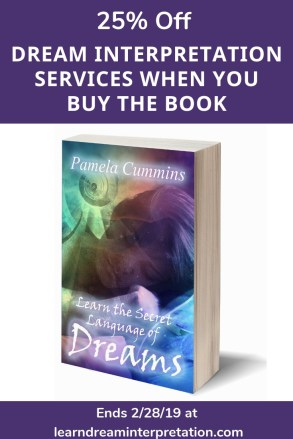 Get 25% off a dream interpretation service when you buy the book, Learn the Secret Language of Dreams.