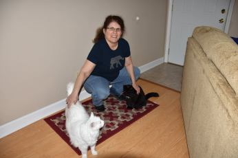 Pamela Cummins and cats