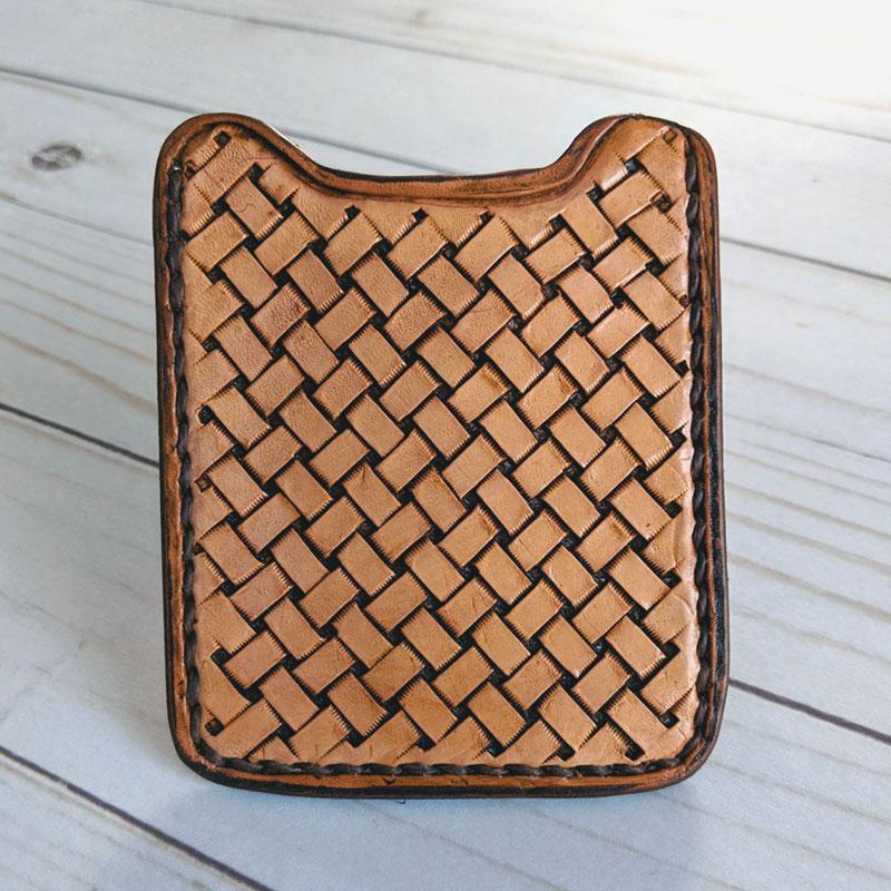 Basket Weave Wallet Money Clip