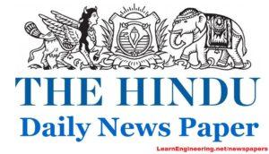 THE HINDU Newspapers PDF
