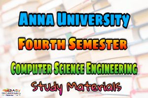 PDF] Computer Science and Engineering Fourth Semester Subjects