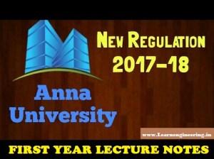 PDF] Anna University First Year First Semester [R2017