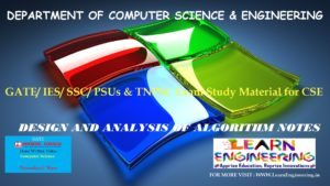 [PDF] GATE Exam Study Material for CSE | IES/ SSC/ PSUs & TNPSC Exam Study Material for CSE | Design and Analysis of Algorithm Notes | By Made Easy Hand Written Notes Free Download
