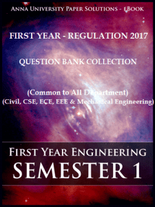 [PDF] Computer Science and Engineering 1st Semester Question Bank Collection for Regulation 2017