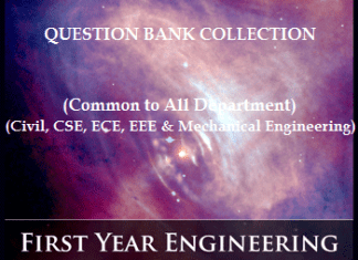 Electrical and Electronics Engineering (EEE) 1st Semester Question Bank Collection for Regulation 2017
