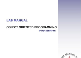 [PDF] CS8383 Object Oriented Programming Laboratory Lab Manual