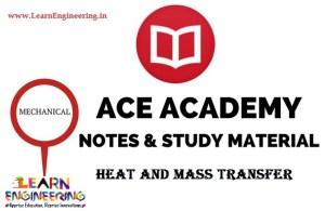 Ace Academy Heat and Mass Transfer Handwritten Notes