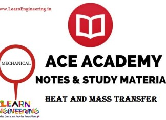 Ace Academy Heat and Mass Transfer Handwritten Notes