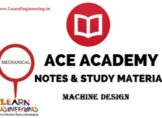 Ace Academy Machine Design Handwritten Notes