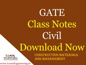Gate Academy Construction Materials and Management Notes
