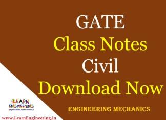 Gate Academy Engineering Mechanics Notes