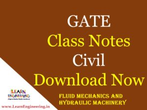 Gate Academy Fluid Mechanics and Machinery Notes