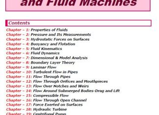 S K Mondal's Fluid Mechanics & Machines Notes