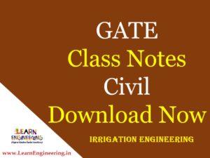 Gate Academy Irrigation Engineering Notes