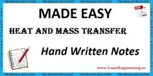 Made Easy Academy Heat & Mass Transfer Handwritten Notes