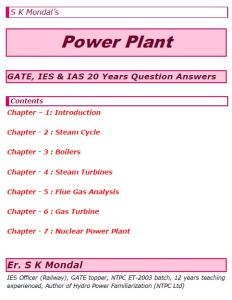 S K Mondal's Power Plant Engineering Notes
