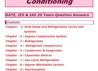 S K Mondal's Refrigeration and Air Conditioning Notes