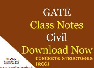 Gate Academy Concrete Structures (RCC) Notes