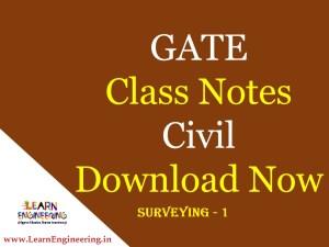 Gate Academy Surveying-1 Notes