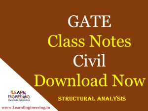 Gate Academy Structural Analysis Notes