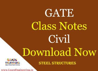 Gate Academy Steel Structures Notes