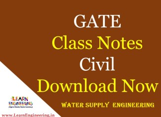 Gate Academy Water Supply Engineering Notes