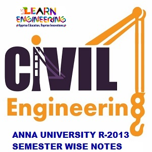Civil Engineering R-2013 Semester wise Notes Collection