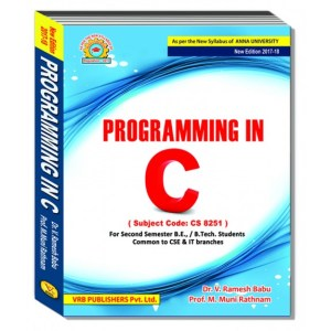 CS8251 Programming in C
