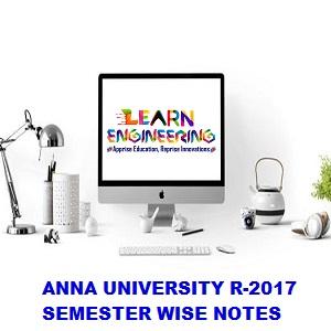 CSE R-2017 Notes