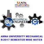 Mechanical Engineering R2017 Semester wise Notes Collection
