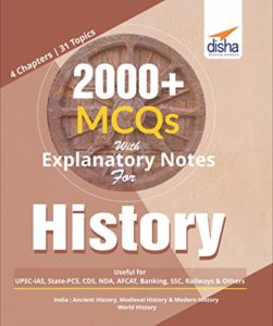 2000+ MCQs with Explanatory Notes For History By Disha Experts