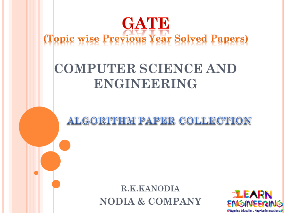 R K Kanodia Algorithm Notes