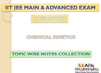 Chemical Kinetics (Chemistry) Notes for IIT-JEE Exam
